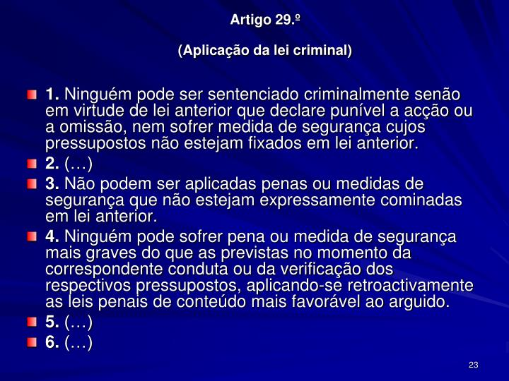 Artigo 29.º