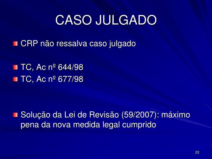 CASO JULGADO