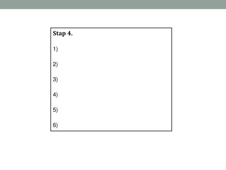 Stap 4.