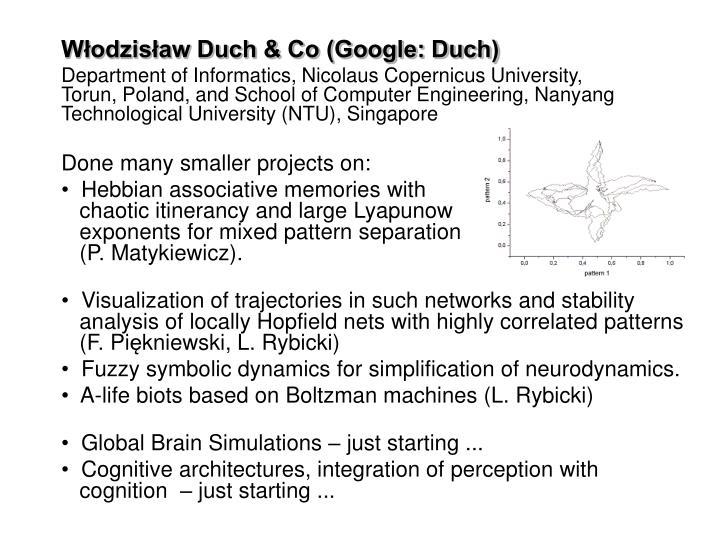 Włodzisław Duch & Co (Google: Duch)