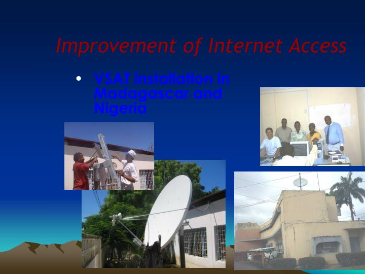 Improvement of Internet Access