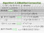 algorithm1 5 3 modified cornacchia