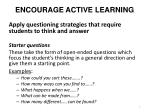 encourage active learning1