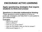 encourage active learning2