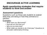 encourage active learning3