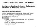 encourage active learning4