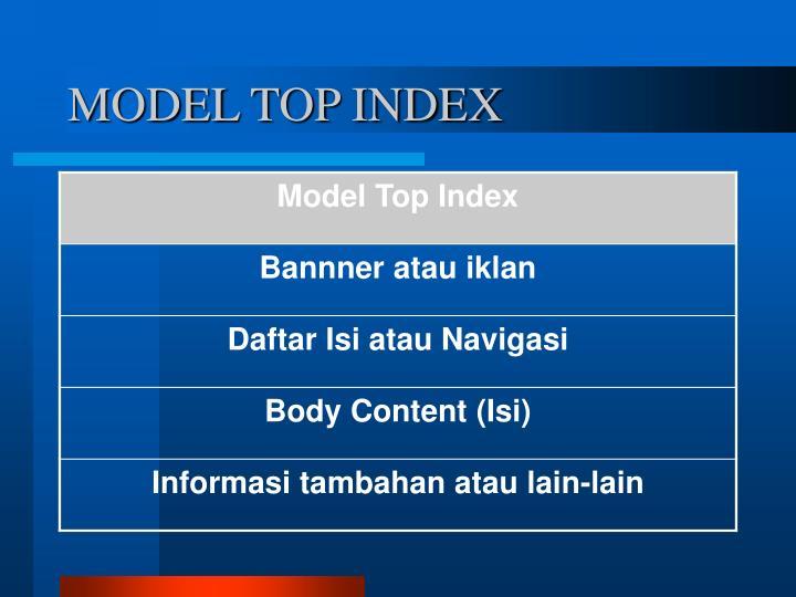 MODEL TOP INDEX