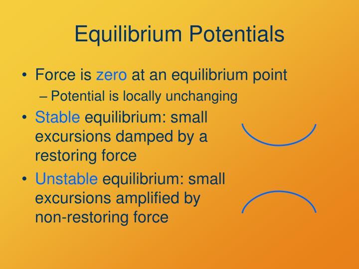 Equilibrium Potentials