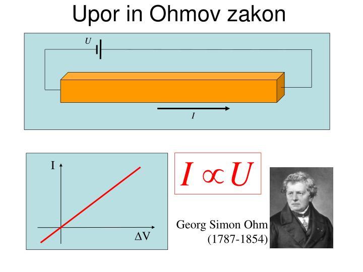Upor in Ohmov zakon
