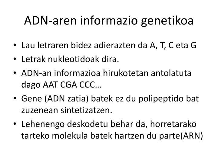 ADN-aren informazio genetikoa