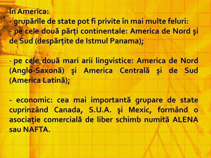 În America: