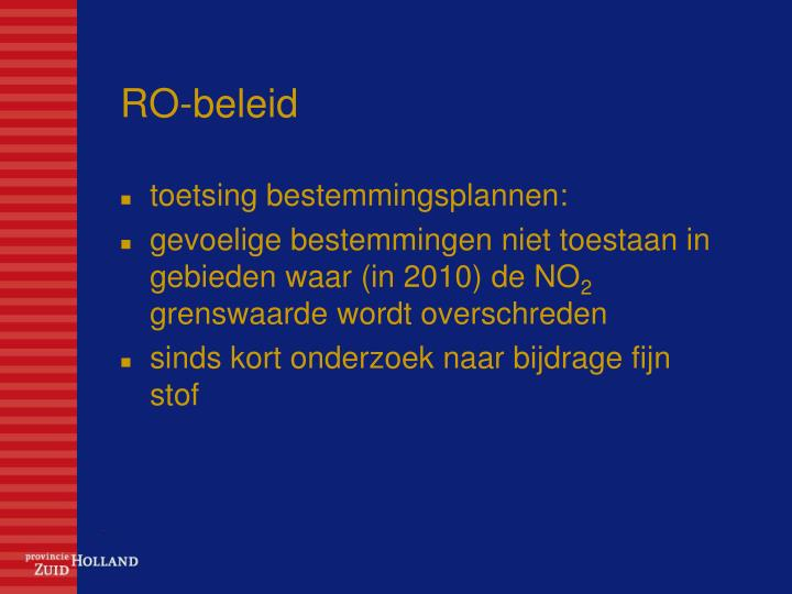 RO-beleid