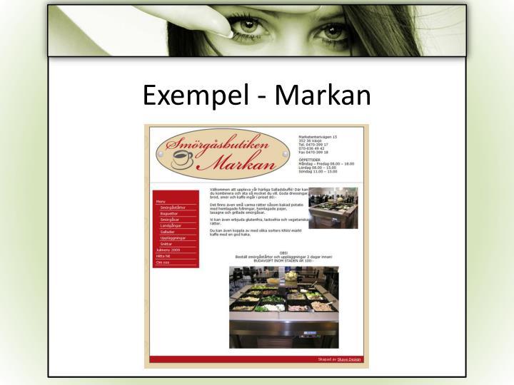 Exempel - Markan