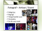 fotograf artiser event