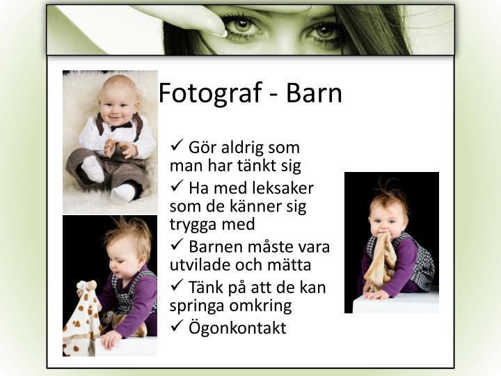 Fotograf - Barn