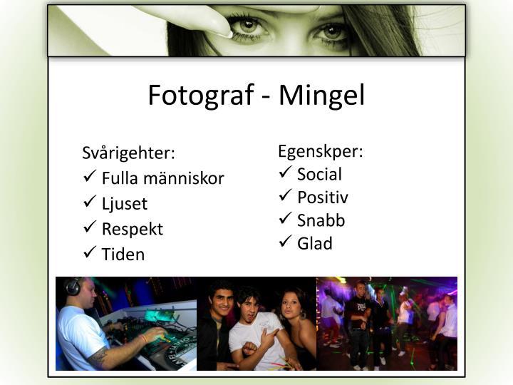 Fotograf - Mingel