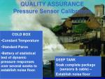 quality assurance pressure sensor calibration