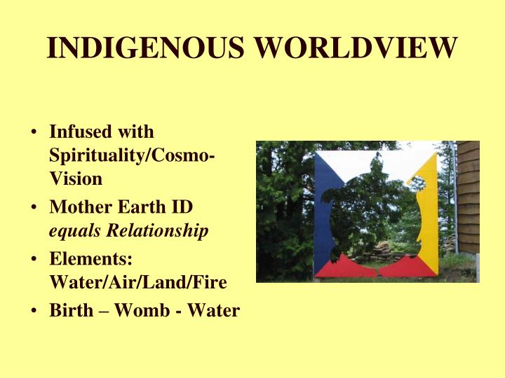 INDIGENOUS WORLDVIEW
