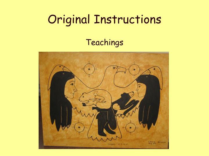Original Instructions