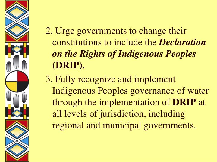 2. Urge governments to change their constitutions to include the