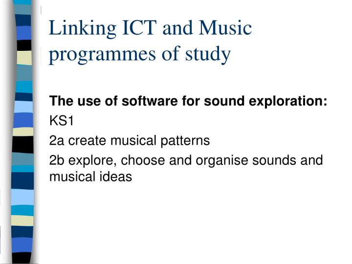 Linking ICT and Music programmes of study