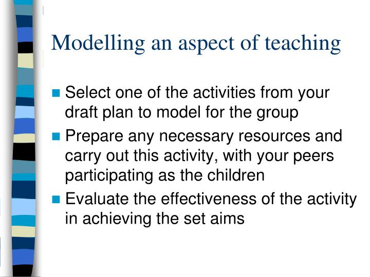 Modelling an aspect of teaching