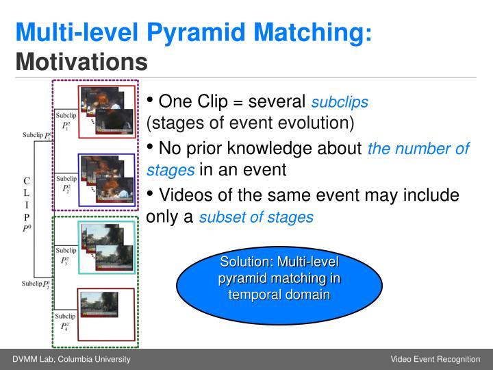 Multi-level Pyramid Matching