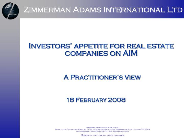 Zimmerman Adams International Ltd
