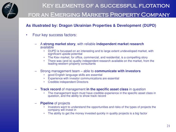 Key elements of a successful flotation