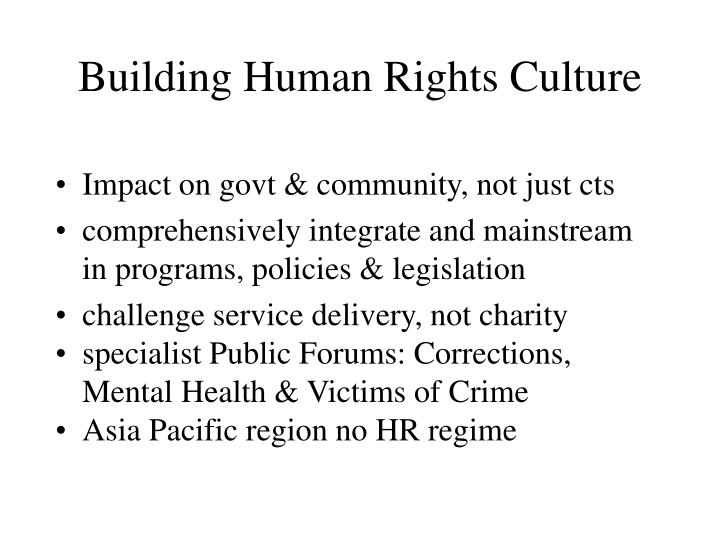 Building Human Rights Culture