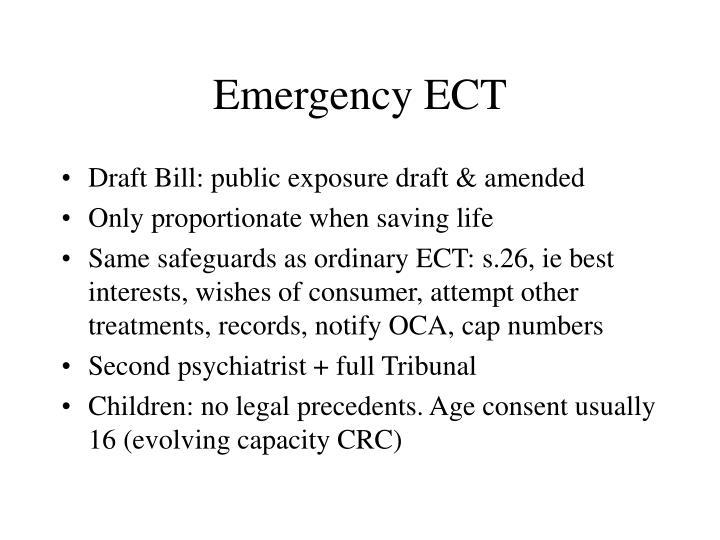 Emergency ECT