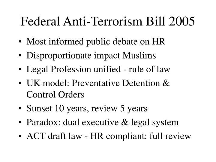 Federal Anti-Terrorism Bill 2005