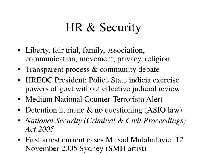 HR & Security