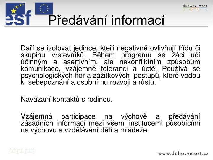 Předávání informací