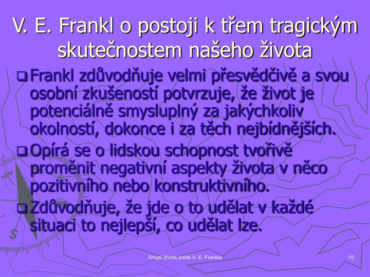 V. E. Frankl o postoji k třem tragickým skutečnostem našeho života