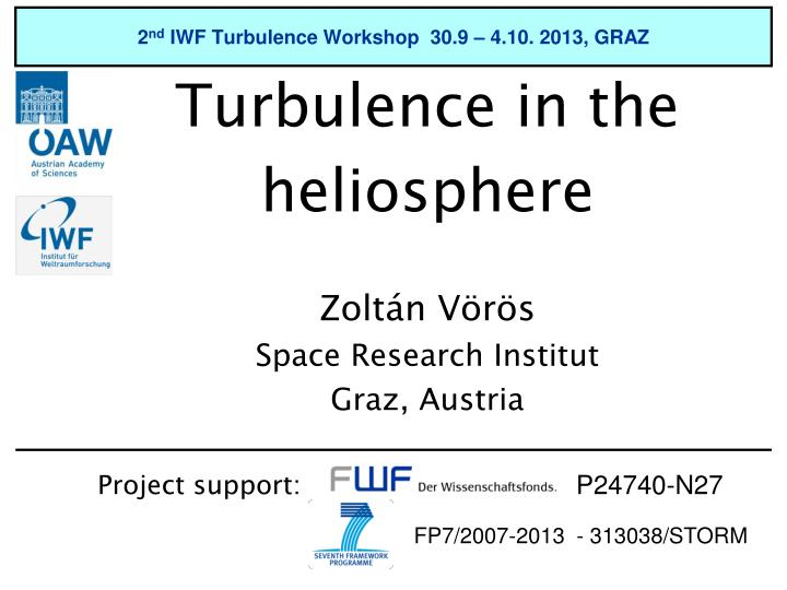 2 nd iwf turbulence workshop 30 9 4 10 2013 graz