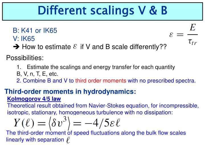 Different scalings V & B