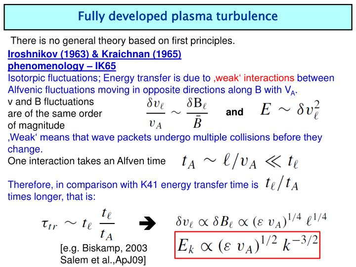 Fully developed plasma turbulence