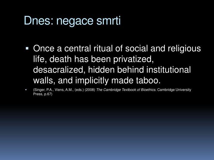 Dnes: negace smrti