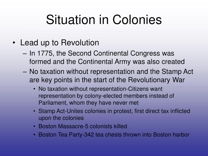 key events leading to revolutionary war
