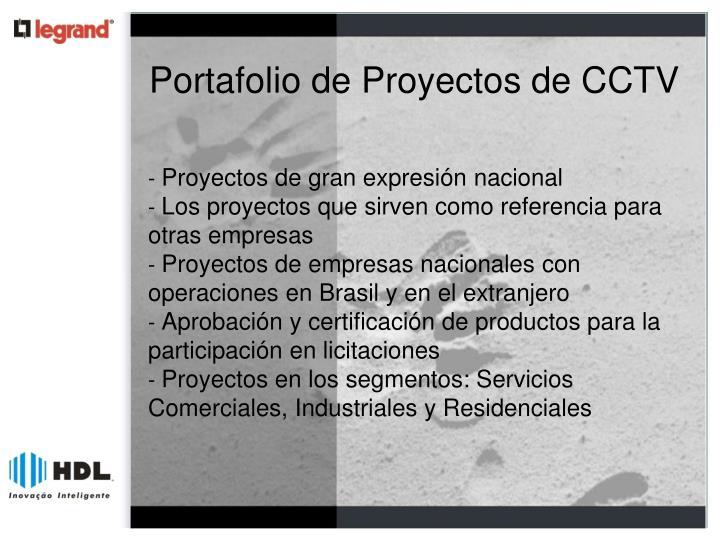 Portafolio de Proyectos de CCTV