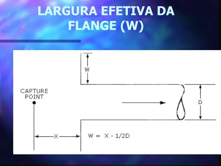 LARGURA EFETIVA DA