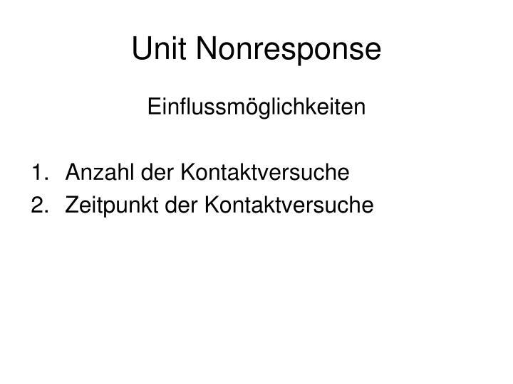 Unit Nonresponse
