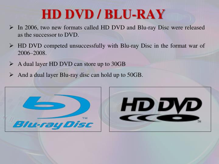 HD DVD / BLU-RAY