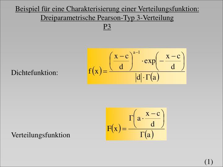 Beispiel für eine Charakterisierung einer Verteilungsfunktion: