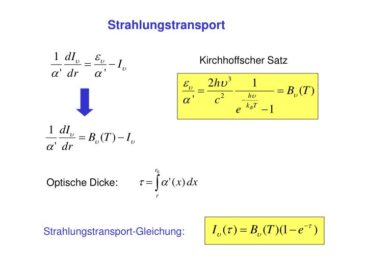 Strahlungstransport