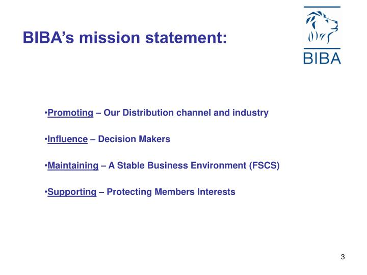 Biba s mission statement