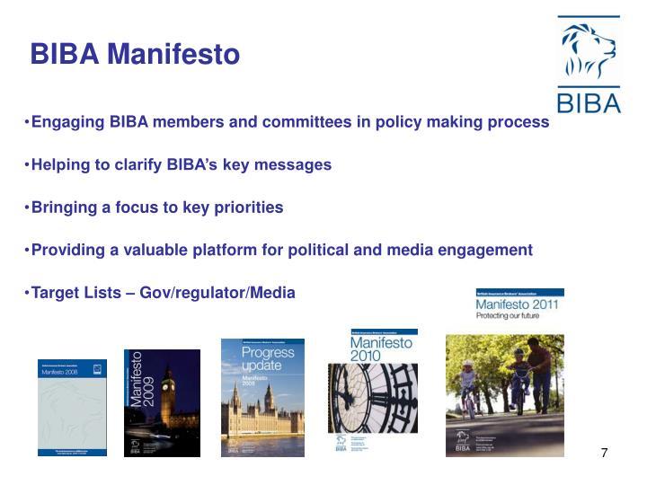 BIBA Manifesto