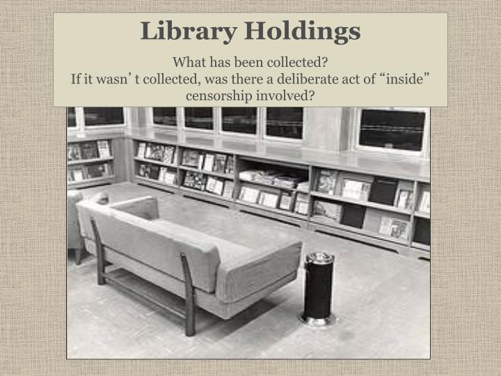 Library Holdings