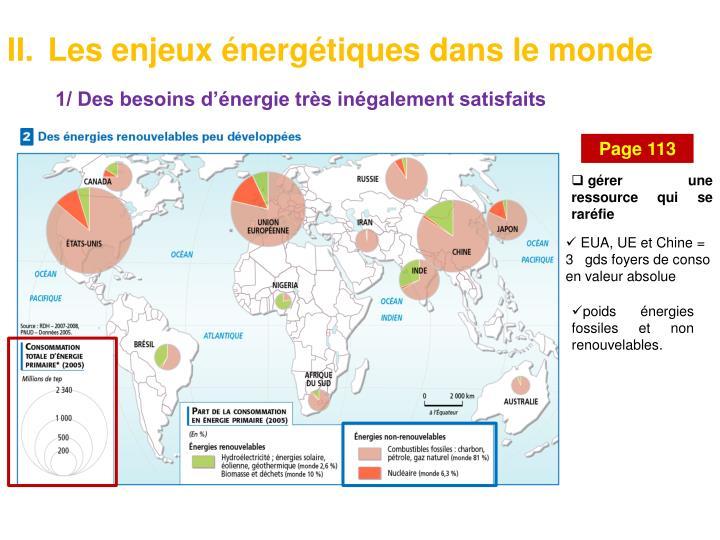 Les enjeux énergétiques dans le monde